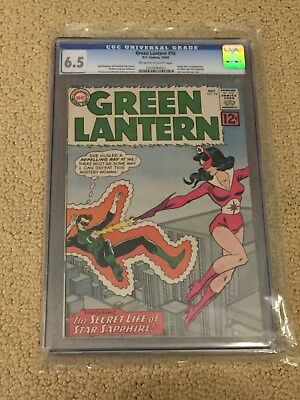 Green Lantern 16 CGC 6.5 OW/White Pages (1st app of Star Sapphire from 1962!!)