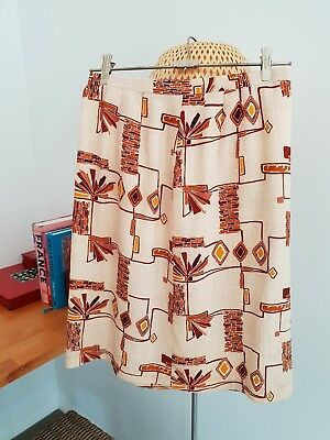 Vintage Abstract Pattern Skirt. Size au 8
