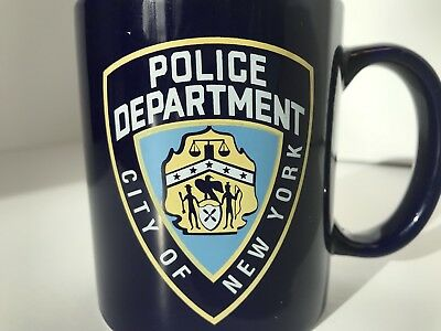 NYPD Coffee Mug City Of New York Police Department Coffee Cup Kobalt Blue