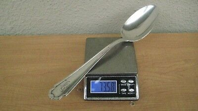 "74 grams .800 Large Sterling Silver Italy Serving Spoon Not Scrap 8"" Long"