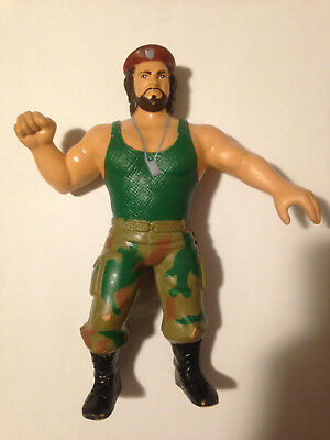 WWF LJN Corporal Kirchner Wrestling Figure WWE VG Condition #2 Beard Bearded