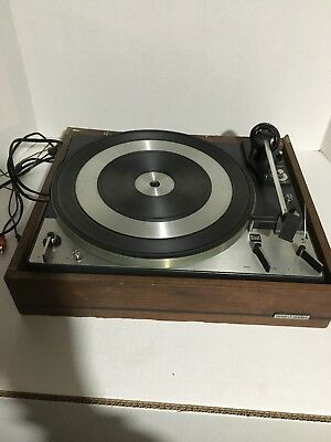 Vintage Dual 1219 Turntable Parts or Project. Comes With United Audio Wood Base.