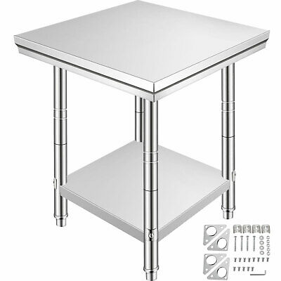 610X610 Commercial Stainless Steel Kitchen Work Bench Top Food Grade Prep Table