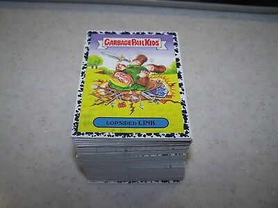 2019 GARBAGE PAIL KIDS WE HATE THE 90's BRUISED COMPLETE 220 STICKER SET (A & B)
