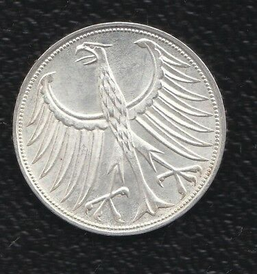 Germany 5 Mark 1965 G Silver