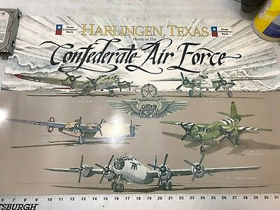 Confederate Air Force Poster Ghost Squadron CAF VTG Harlingen B-29