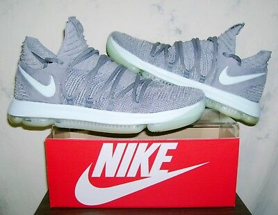 ... Men s NIKE AIR ZOOM KD 10 Kevin Durant Sz 13 Gray Mint Athletic Shoes  FAST ... fe2ccd20a