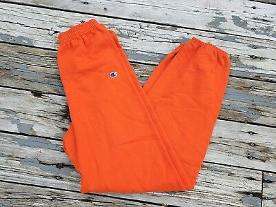 VTG Champion Athletic Orange Sweatpants Youth XL Mens Small NWOT 90s Authentic