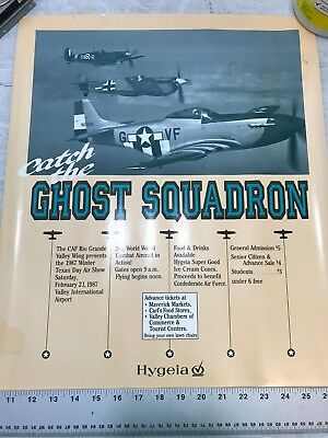 Confederate Air Force Poster Ghost Squadron CAF 1987 Airsho Flyer Air Fiesta RGV