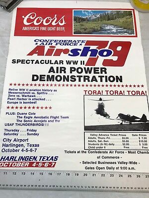 Confederate Air Force Poster Ghost Squadron CAF 1979 Airsho Flyer Air Fiesta RGV