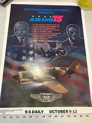 Confederate Air Force Poster Ghost Squadron CAF 1975 Airsho Flyer Air Fiesta RGV