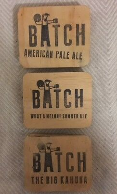 Batch Brewing Wooden Tap Beer Decals Top Badge Double Sided Free Postage