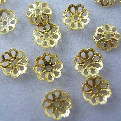 Wholesale 6mm 700pcs Gold Plated Flower Bead Caps DIY Fashion Jewelry Findings