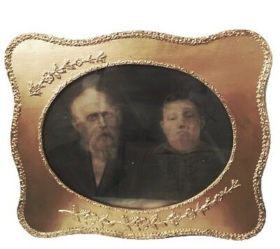 Antique Gilded Picture Frame w/ Floral and Scroll Edge C.~mid 19th Century