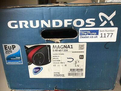 Grundfos Magna1 D 40-40F 97924379 220mm Twin-Head Flanged Circulating Pump #1177