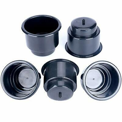 20PCS Boat Recessed Plastic Cup Drink Can Holder with Drain for Car Marine Black