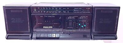 PHILIPS D8273 D8274 Stereo Radio Cassette Tape Portable Boom Box Ghetto Blaster