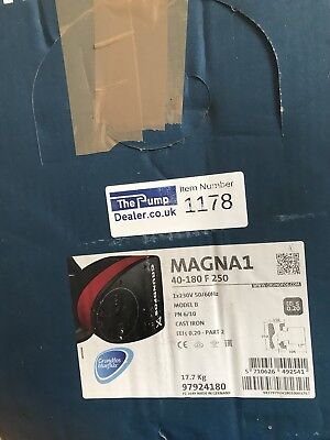 Grundfos Magna1 40-180  97924180 circulator Pump #1178