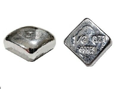 1/2 Troy Ounce Silver Bar | .999 | Square Bar | Volume Pricing