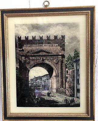Vintage~Arch of Imperator Caesar Augustus~ Framed Print Turner Wall Accessory
