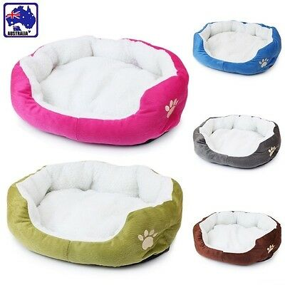 Pet Dog Cat Bed Puppy Fleece Plush Cushion Pet Soft Warm Kennel Nest Mat PDBED88