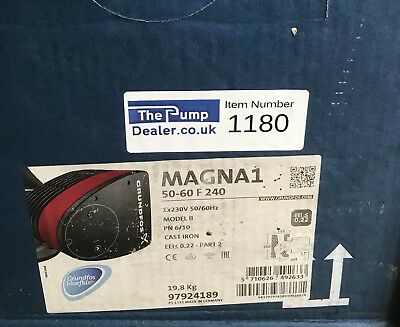 Grundfos Magna1 50-60f Variable Speed Circulator Pump 240V (97924189) #1180