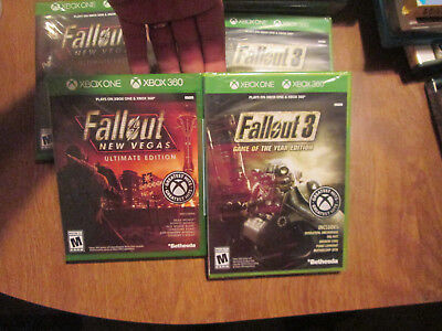 Fallout 3 Game of the Year & New Vegas Ultimate Edition XBOX ONE XBOX 360 LOT