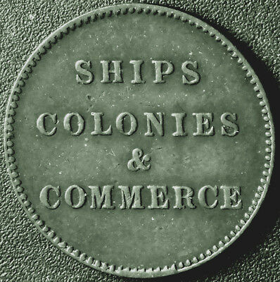 Canada PEI Ships Colonies & Commerce Token Br997 PE-10  #170316
