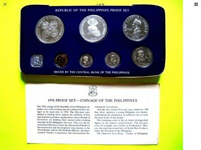 Philippines Coin 1976 Proof Set Mirror Like With Certificate Of Authenticity