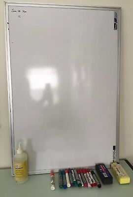 Portable Whiteboard 90x60cm Commercial Magnetic Office Board +erasers+13 markers