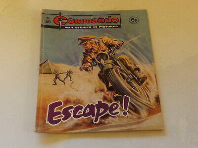 Commando War Comic Number 589 !,1971 Issue,good For Age,48 Years Old,very Rare