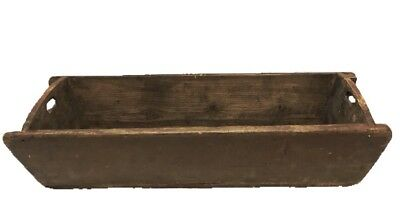 Antique French Wooden Rectangular Dough Trough 38 In.