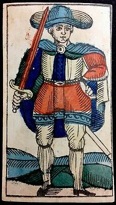 Italian c1845 Antique Tarot Playing Cards Historic Arcana Single Artisan Colour