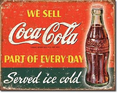 Coca Cola Coke Part of Every Day Advertising Vintage Retro Style Metal Tin Sign