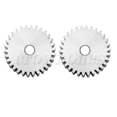 1 Mod 27T Spur Gear Steel Motor Pinion Gear Thickness 10mm Outer Dia 29mm x 2Pcs