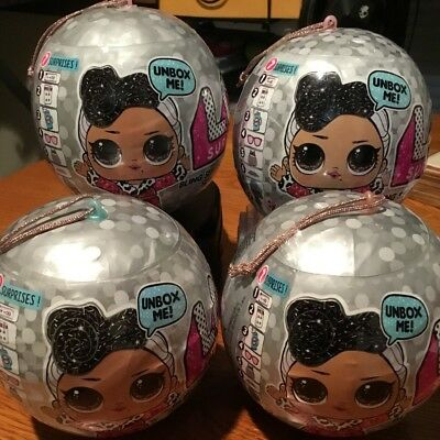 4x LOL Surprise Bling Series Silver Ball Dolls Guaranteed 1 GOLD! Priority Ship!
