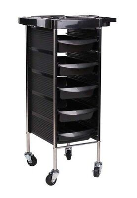 5 Tiers Hairdresser Hairdressing Salon Spa Multifunction Trolley Storage Cart