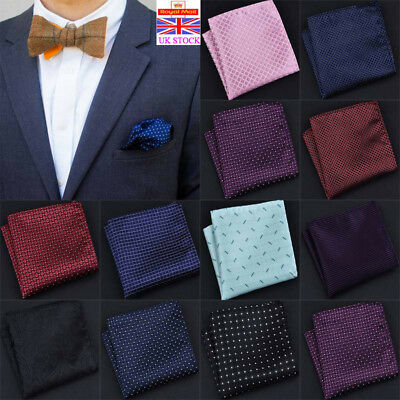 Mens Polka Dot Handkerchief Wedding Party Business Office Pocket Square Hanky