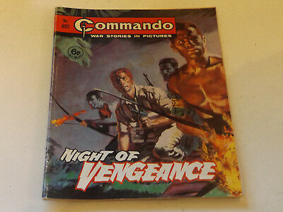 Commando War Comic Number 692 !,1972 Issue,good For Age,47 Years Old,very Rare