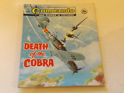 Commando War Comic Number 693 !,1972 Issue,v Good For Age,47 Years Old,very Rare