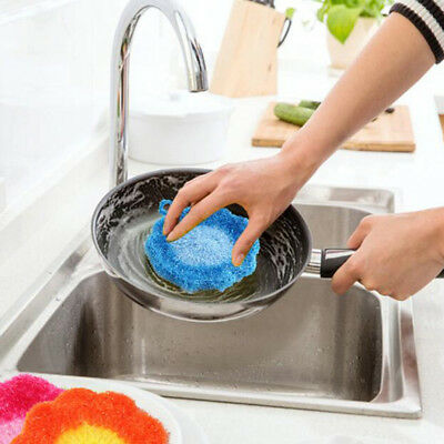 Scrubber Sponge Dishcloth flower Kitchen Washing Cleaning Towel Dish Rags WipeZY