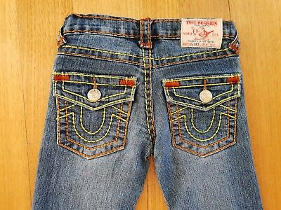 Girl's - TRUE RELIGION DENIM JEANS - Size 3 to 4 / Excellent Condition