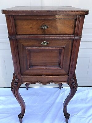 ANTIQUE C. LATE 19th CENT. FRENCH LOUIS XV CABRIOLE LEG TABLE~Night Stand