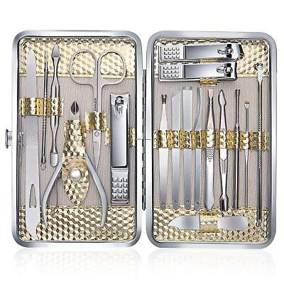 Keiby Citom Manicure Set 18pcs Professional Nail Clippers Kit Pedicure Care...