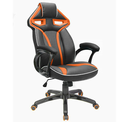 Executive Racing Sports Gaming Office Chair High Back Swivel Chairs Orange UK