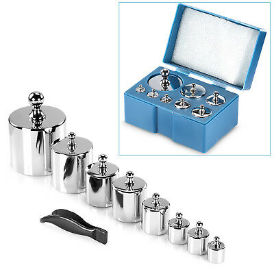 Neewer 8 Pieces 1000 Gram Pure Stainless Steel Calibration Weight Set for Scales