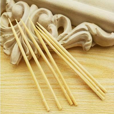 200PC Bamboo Toothpick Wooden Fruit Stick Party Buffet Appetizer Toothpicks SE