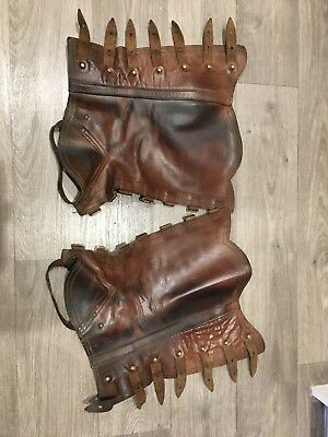Portugese Style Leather Half Chaps - Size Large