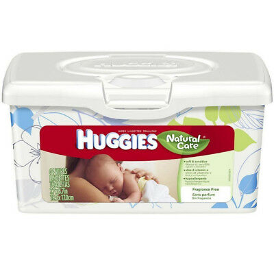 HUGGIES Natural Care Baby Wipes, Unscented 64 Count, 39301, Each