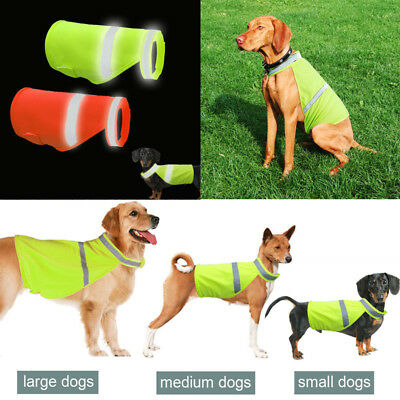 US Small Large Dog Safety Vest Reflective High Visibility Pet Jackets Clothes